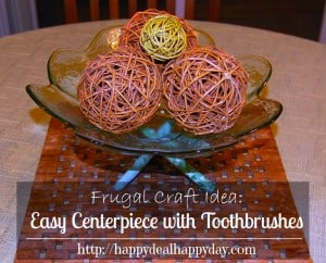 Frugal Craft Projects |  Easy Centerpiece with Toothbrushes