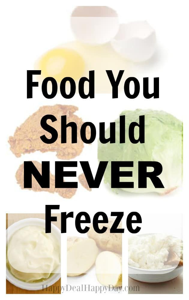 Food You Should Never Freeze!  Use this guide if you are trying to decide what foods that you stocked up on can be frozen or not.