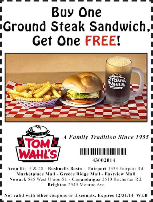 tom wahls coupons