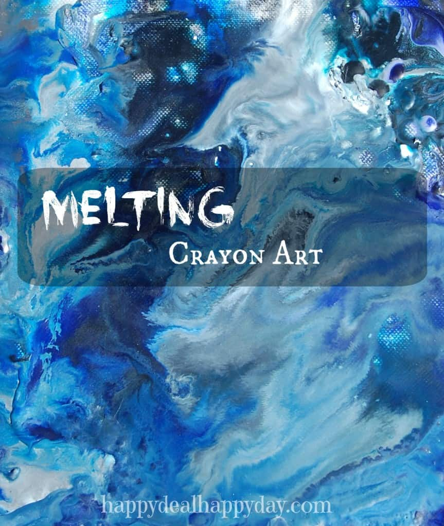 Melting Crayon Art!! Make this amazing wall art with some crayons, canvas, and heat gun! Easy and fun melting crayon art ideas! happydealhappyday.com