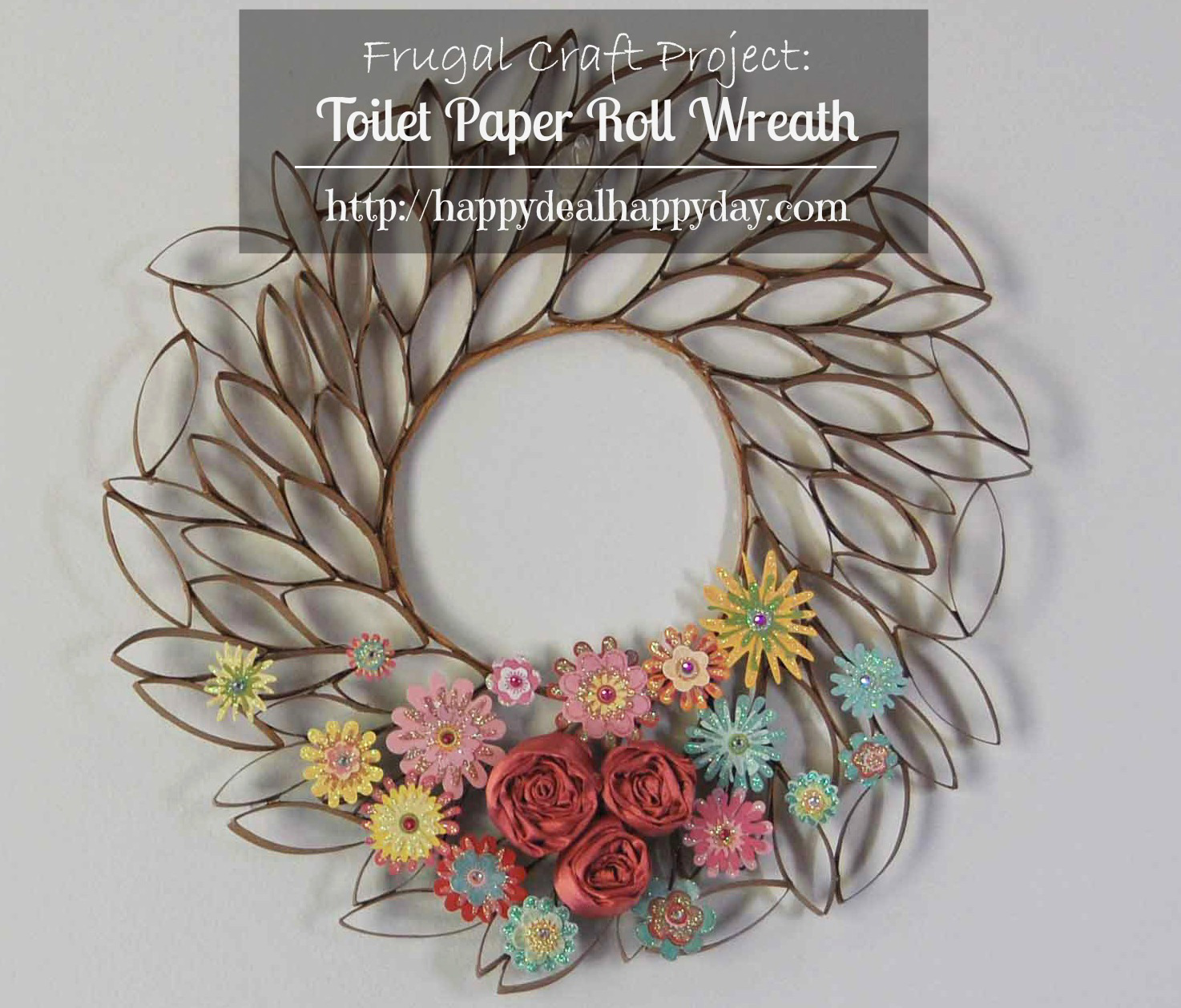 Toilet Paper Roll Crafts – Toilet Paper Roll Wreath – Frugal Craft Projects