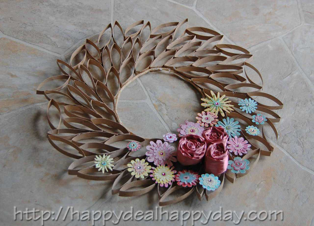 craft paper roll toilet paper roll crafts toilet paper roll wreath 1608
