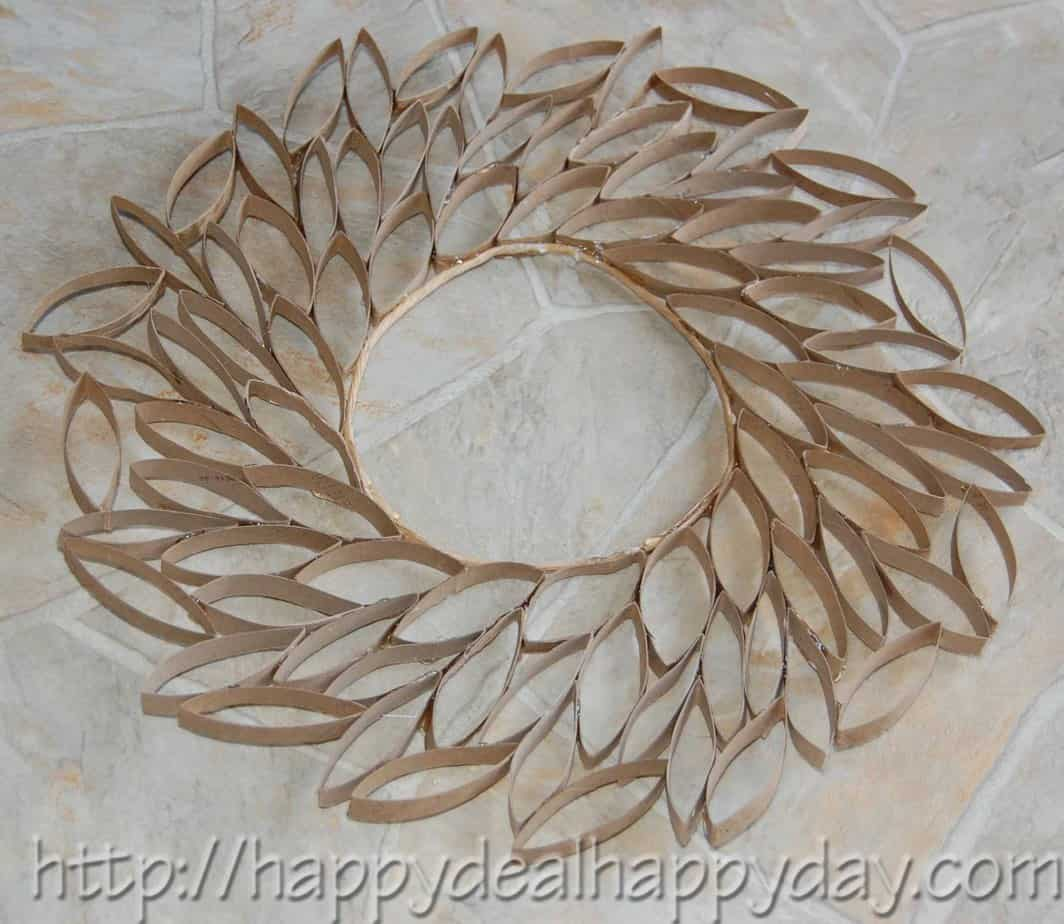 toilet paper roll craft toilet paper roll wreath frugal craft projects toilet paper
