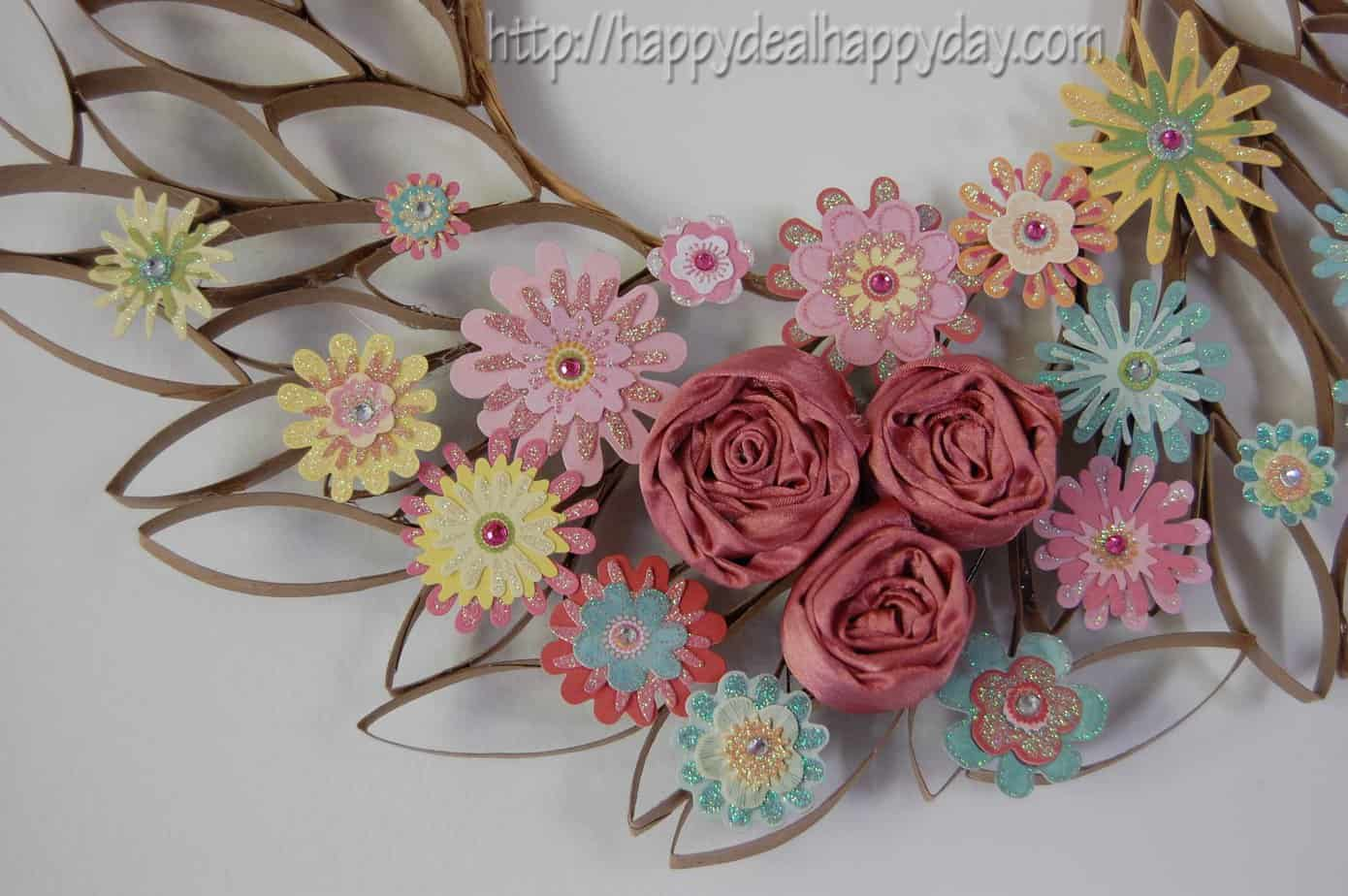 Toilet paper roll crafts toilet paper roll wreath happy deal toilet paper roll craft toilet paper roll wreath frugal craft projects toilet paper mightylinksfo Choice Image