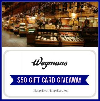 Wegmans $50 Gift Card Giveaway!  Ends July 2nd!
