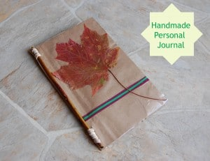 Handmade Personal Journal – Frugal Craft Using Free Paper from Staples!