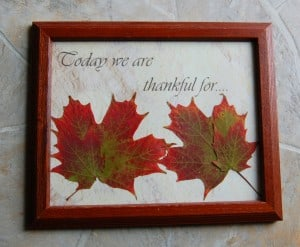 Frugal Decor:  Dry Erase Thankful Frame