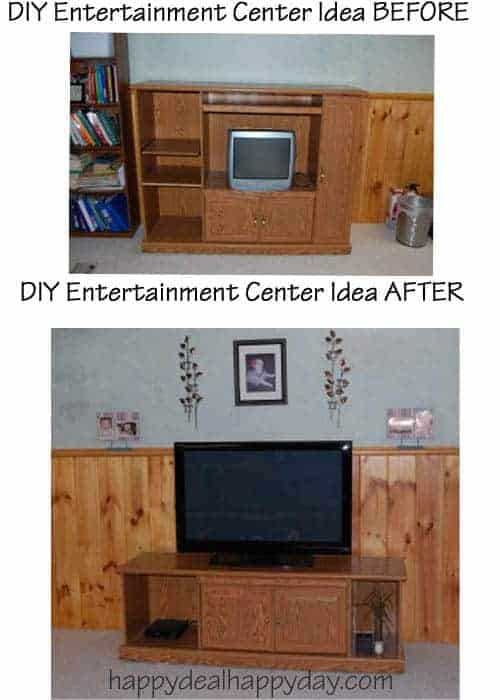Frugal Decor:  DIY Entertainment Center Ideas – Don't Throw Away The Old One!