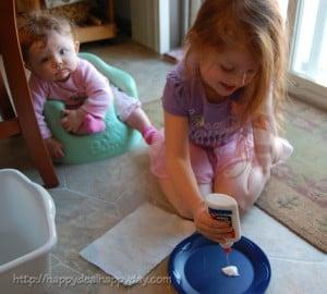 Baby's First Christmas Footprint Ornament DIY