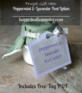 DIY Peppermint & Lavender Foot Lotion – Free Tag Printable PDF!  Mother's Day Gift Idea!