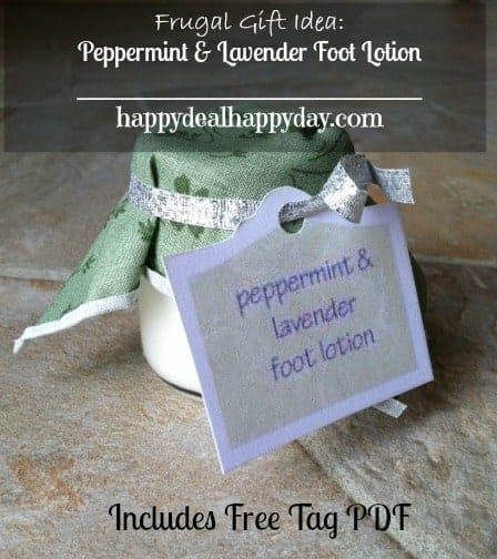 peppermint lavender foot lotion