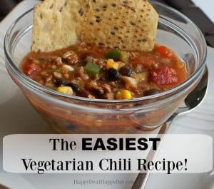 easiest vegetarian chile recipe square