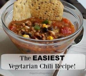 The EASIEST Slow Cooker Vegetarian Chili Recipe on the Planet!