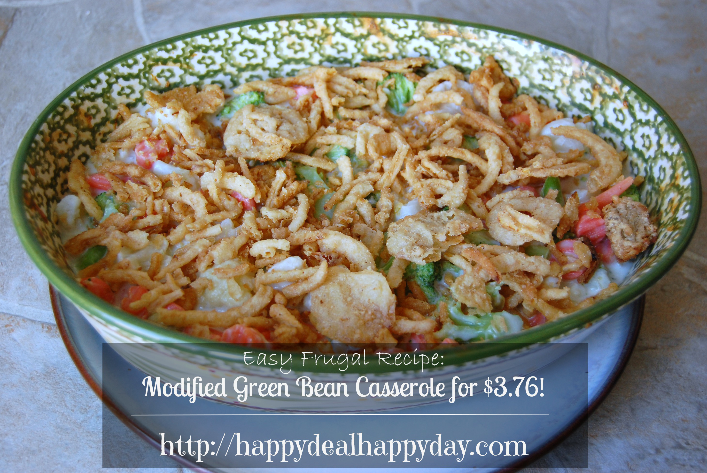 Easy Frugal Recipes:  Modified Green Bean Casserole