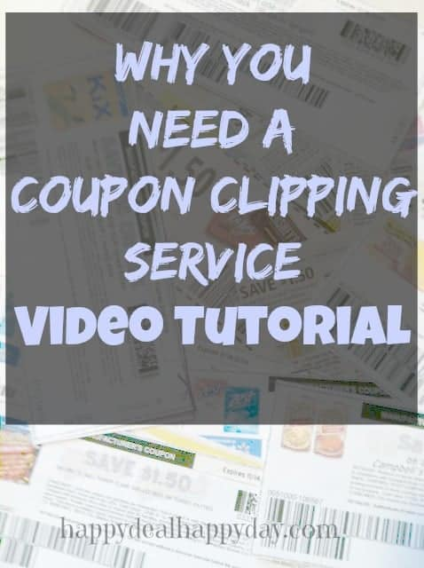Why You Need a Coupon Clipping Service – VIDEO!