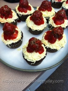 speg and meatball cupcakes