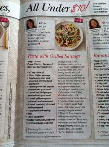 One of My Easy Frugal Recipes is in June 2014 All You Magazine!