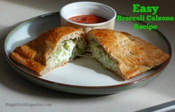 Easy Frugal Recipes | Broccoli Calzone Recipe