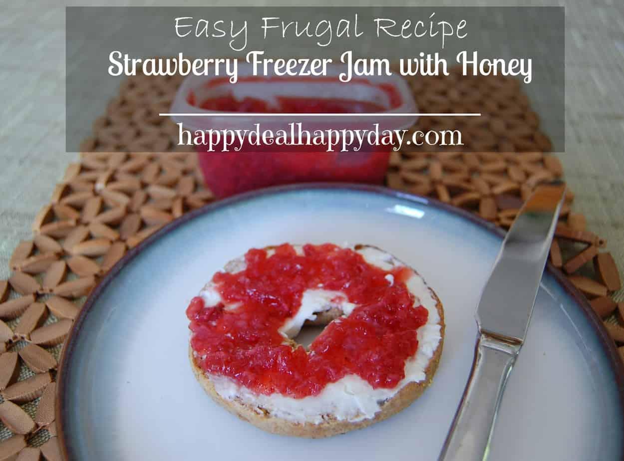 strawberry freezer jam with honey