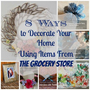 8 Ways to Decorate Your Home Using Items From The Grocery Store