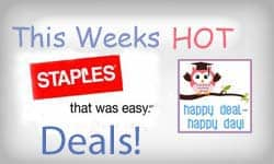 Staples Back-To-School Deals Week of July 23rd