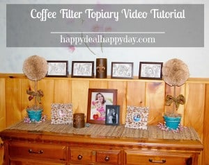 Frugal Craft:  Coffee Filter Topiary Video Tutorial