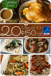 Healthy Menu Plans | 4 Menu Plans for Aldi Shoppers for Less than $150 – NEW HOLIDAY EDITION!