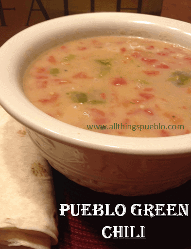 Recipes for the Garden Veggies:  Pueblo Green Chili