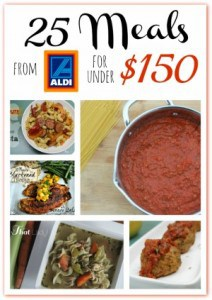 Healthy Menu Plans | 3 Menu Plans for Aldi Shoppers for Less than $150