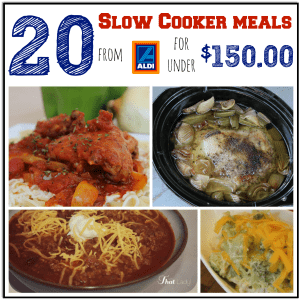 aldi menu crockpot