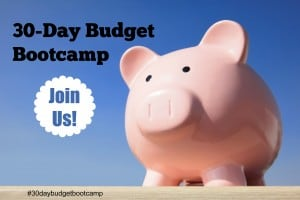 30 Day Budget Bootcamp Starts September 1st!  Come Join Us!!!