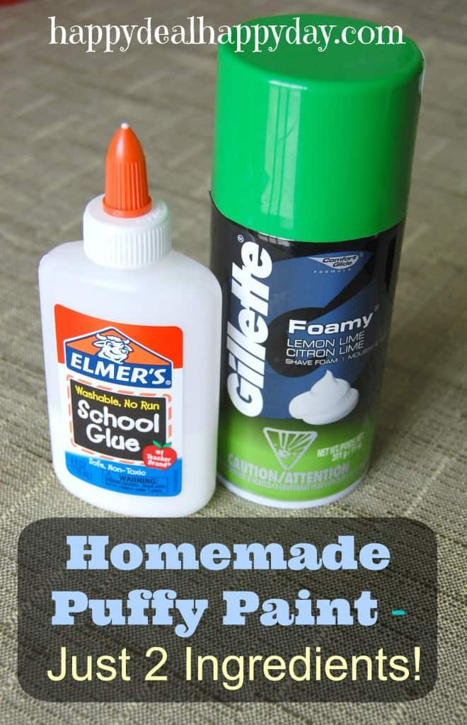 Homemade Puffy Paint with shaving cream - Just 2 Ingredients - Super Easy!! My Kids LOVE this (and I do too!)