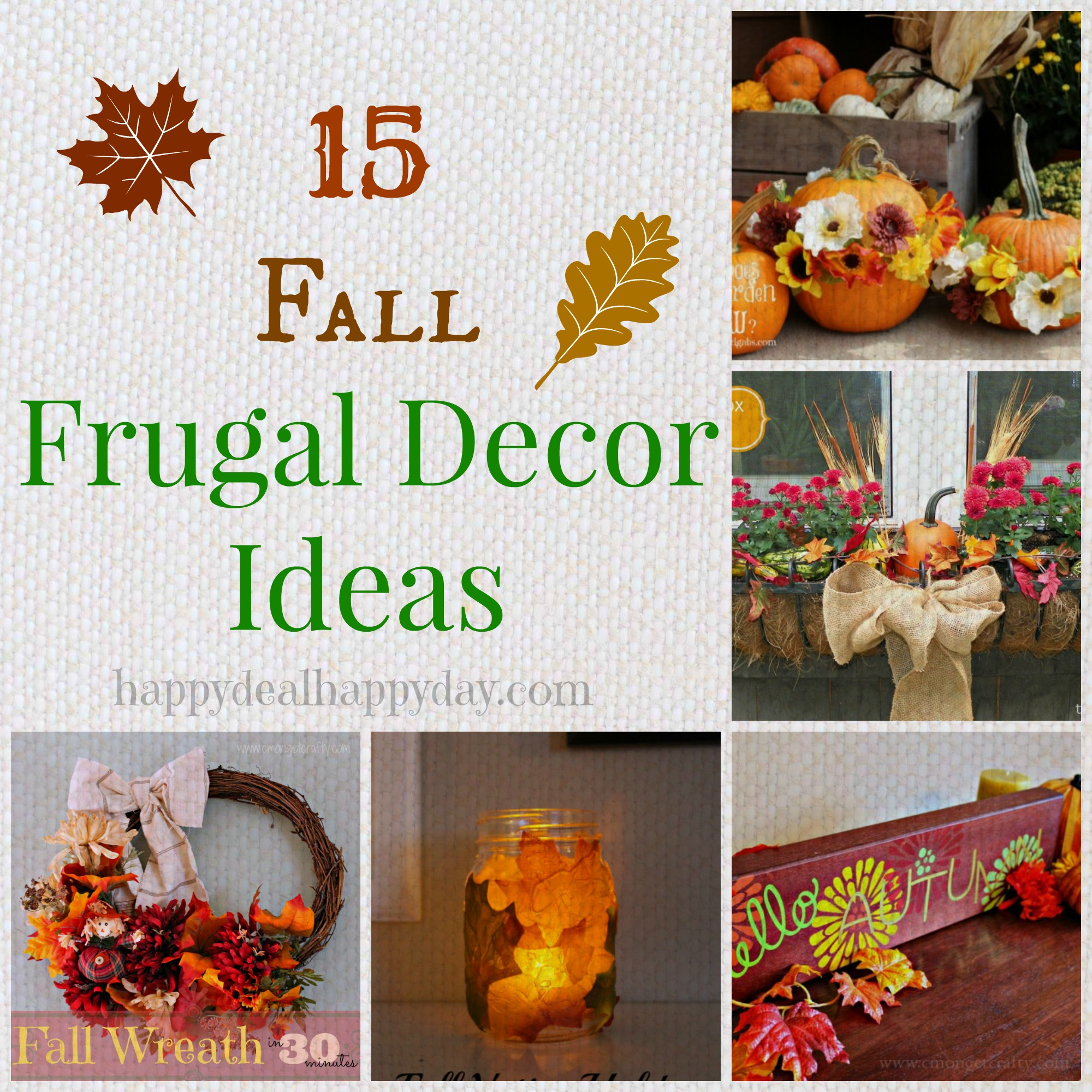 15 frugal fall decor collage text