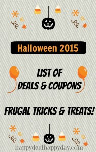 Halloween Deals & Coupons:  Frugal Trick or Treats!