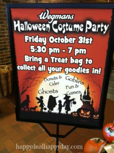 Wegmans Halloween Costume Party:  5:30-7:00 on Oct. 31st!  Have You Gone Before??