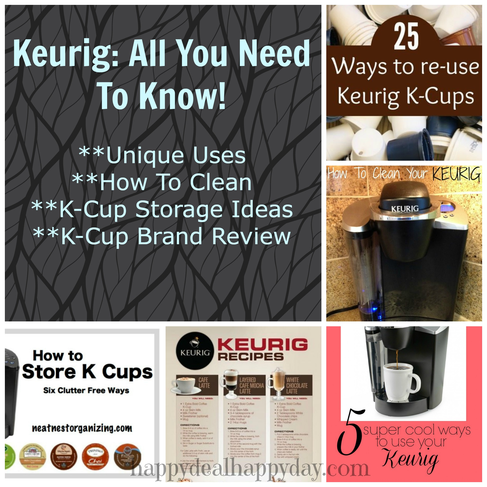 Keurig: All You Need To Know - Who has seriously tried #13????? This post lists Unique Uses, How to Clean, K-Cup Storage Ideas, k-cup crafts, k-cup recipes, and the CHEAPEST K-Cup Brand!