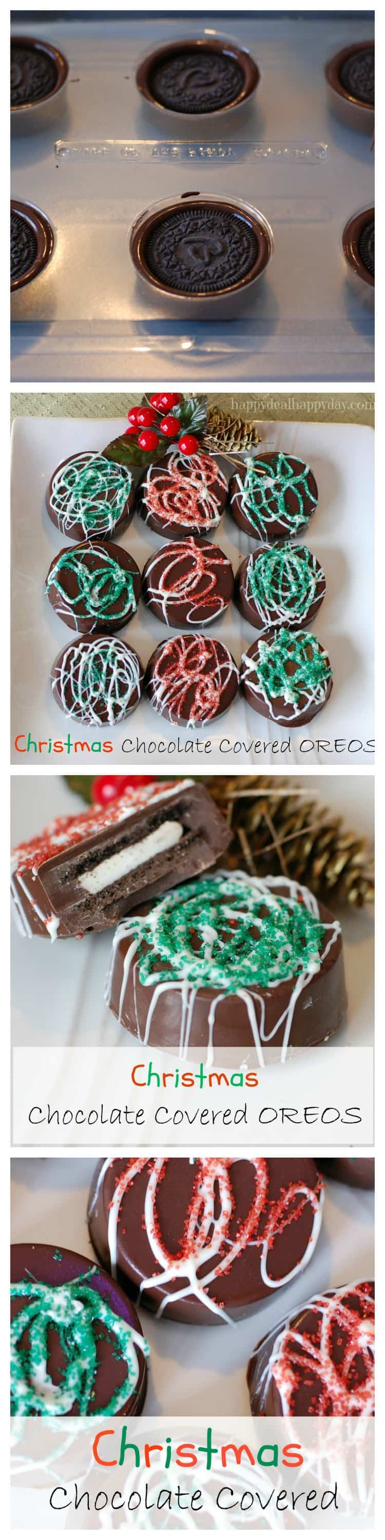 Chocolate Covered Oreos - Christmas Version!  Here is a great step-by-step tutorial to make these beautiful and rich cookies!  They look much more difficult to make than they are - very easy to do and make a great gift!!!!   LOL check out the toddler photo bomb in this one!