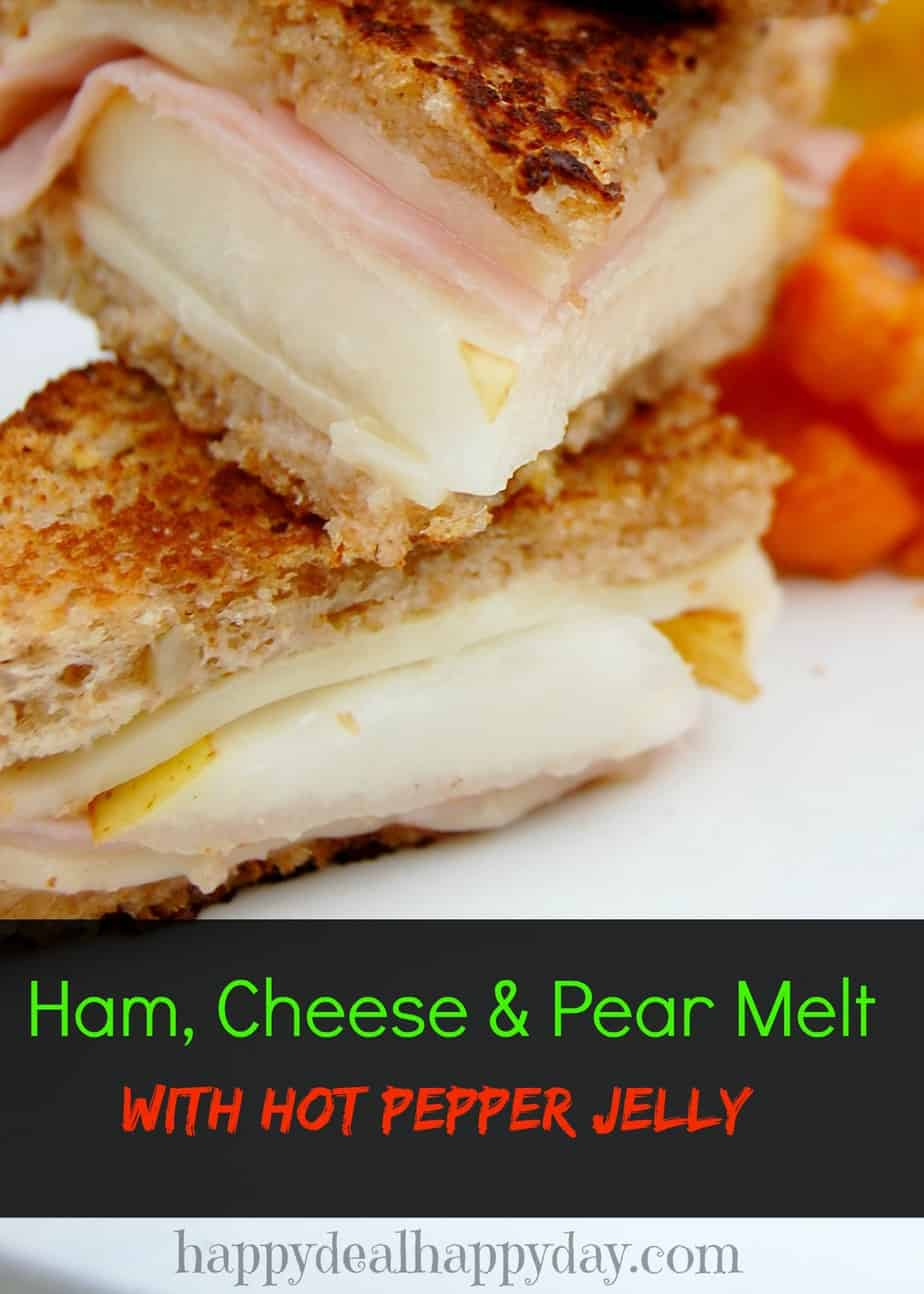 Easy Frugal Recipe | Ham, Cheese & Pear Melt with Pepper Jelly!