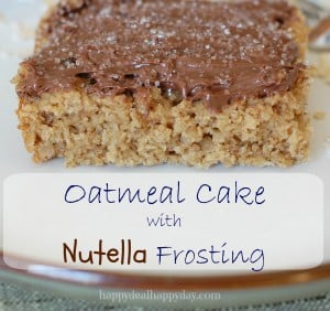Oatmeal Cake with Nutella Frosting Recipe
