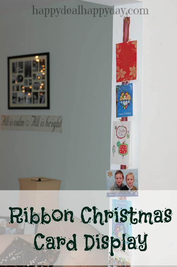 Frugal Craft Project | Ribbon Christmas Card Display