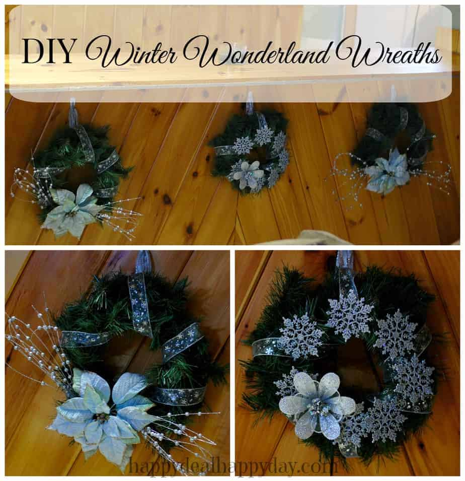 DIY Wreath:  Winter Wonderland| Made for Less Than $7.50 Each With Christmas Clearance!