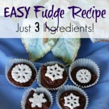 Fudge Recipe – Easy 3 Ingredients!