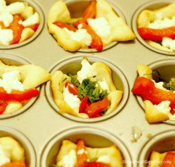 Appetizer Recipes | Feta, Pepper & Spinach Cups – Super Easy and Delicious!