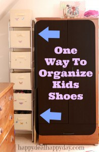 One Way To Organize Kids Shoes