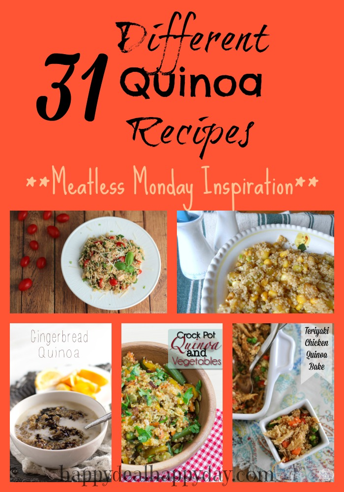 31 Different Quinoa Recipes | Meatless Monday Inspiration