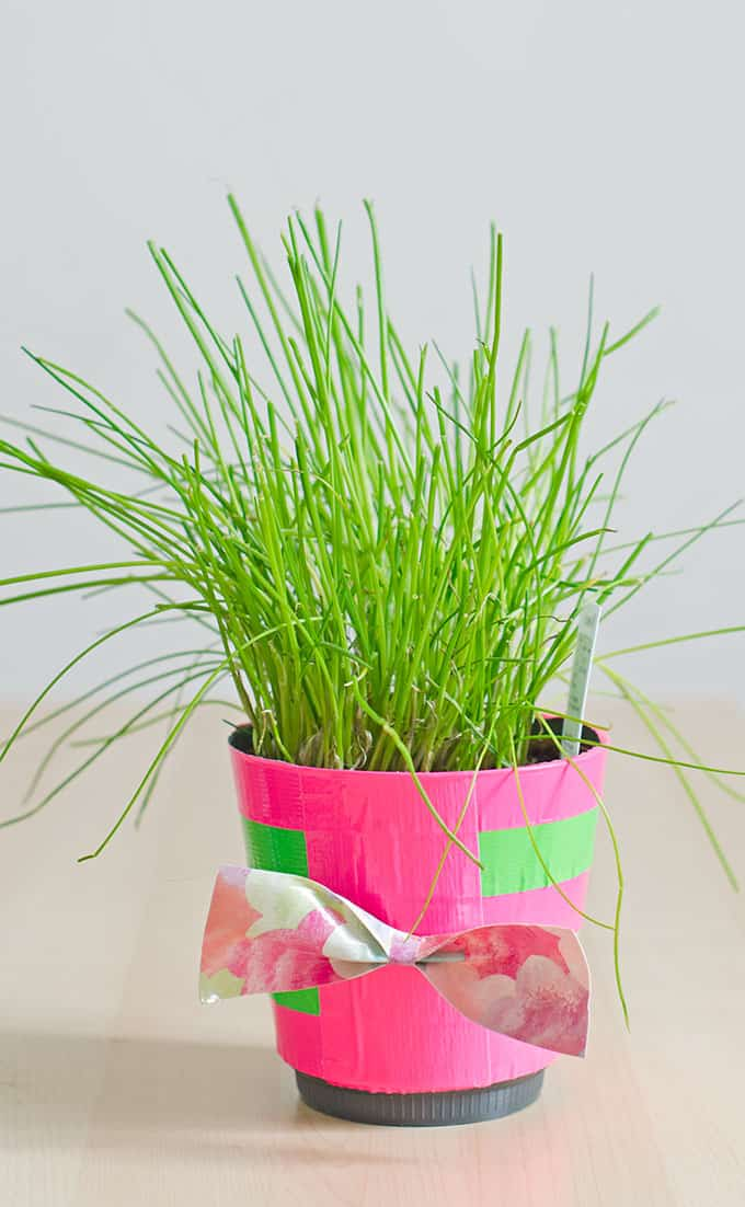 Spring Craft DIY Decor Ideas - duct tape planter