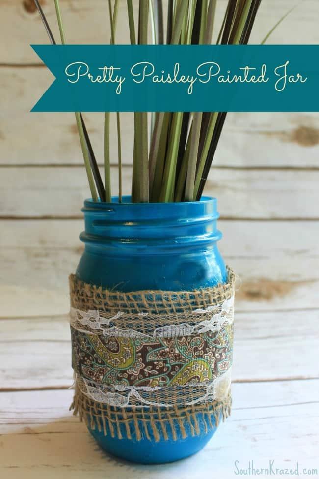 Spring Craft DIY Decor Ideas - painted mason jar