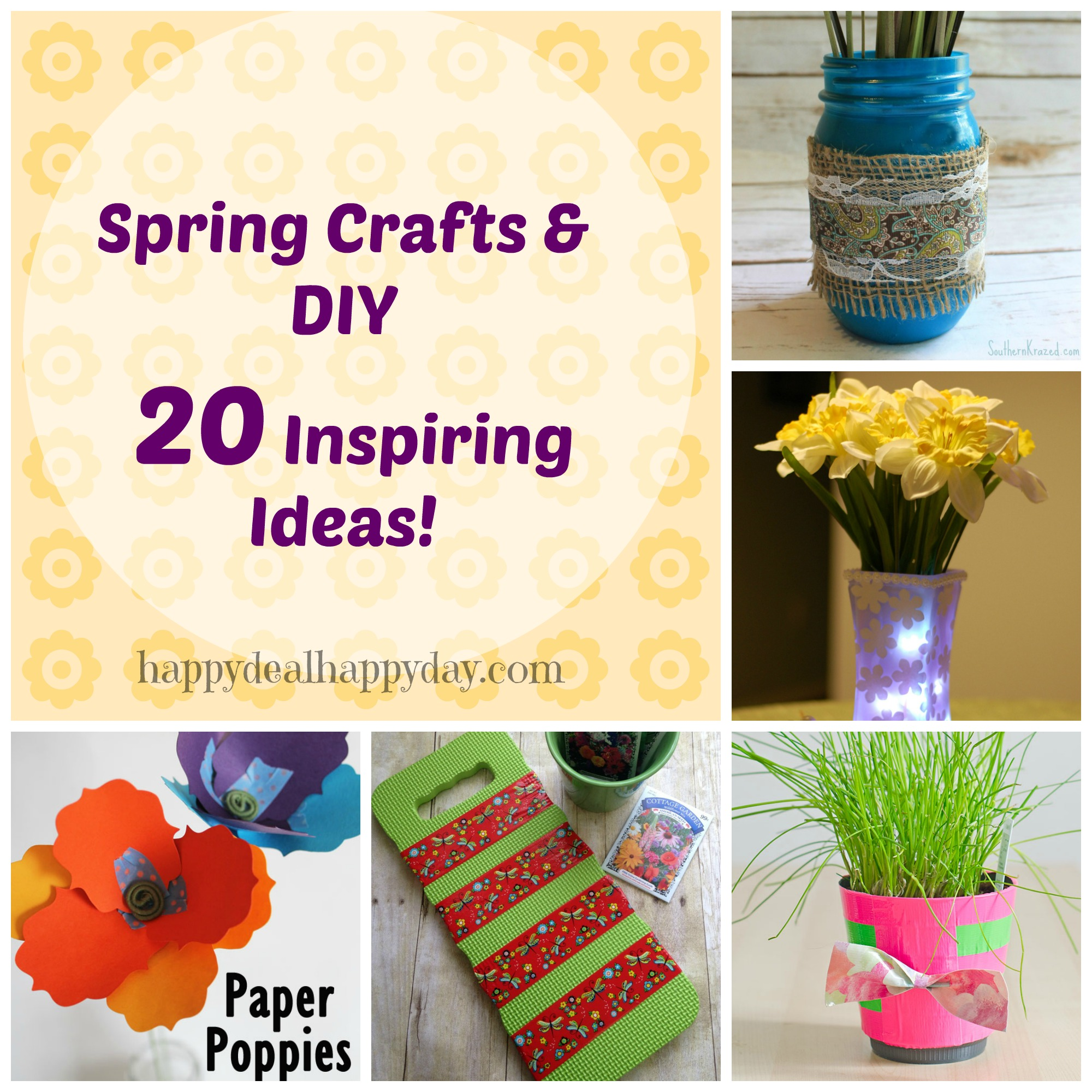 spring crafts and DIY 20 ideas