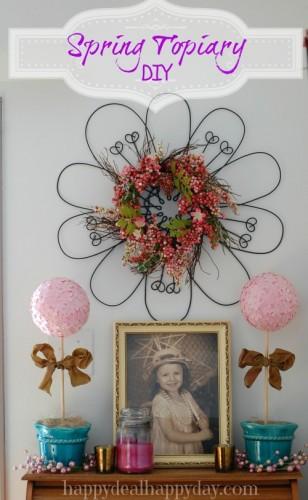 Spring Artificial Topiary DIY | Paper Flower Topiary DIY