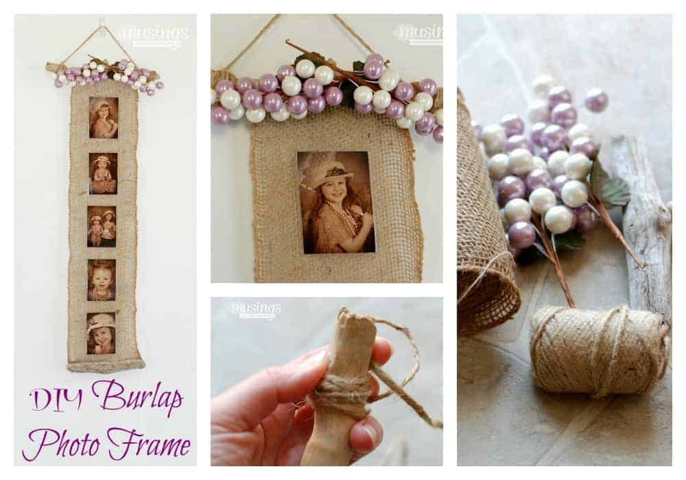 DIY Burlap Photo Frame